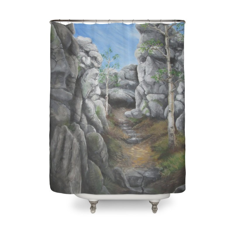 Rock Faces Home Shower Curtain by Yodagoddess' Artist Shop