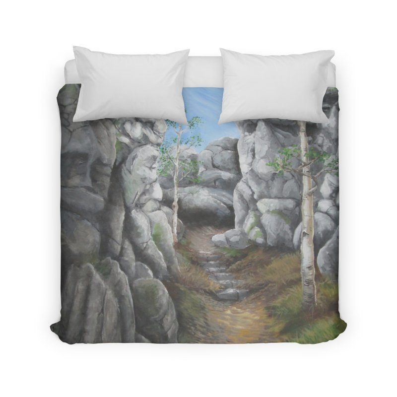 Rock Faces Home Duvet by Yodagoddess' Artist Shop