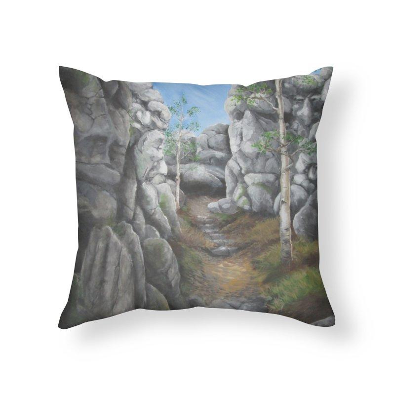 Rock Faces Home Throw Pillow by Yodagoddess' Artist Shop