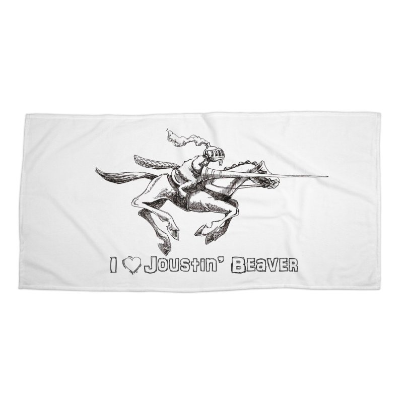 Joustin' Beaver Accessories Beach Towel by Yodagoddess' Artist Shop