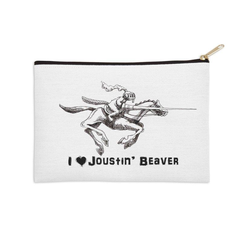 Joustin' Beaver Accessories Zip Pouch by Yodagoddess' Artist Shop