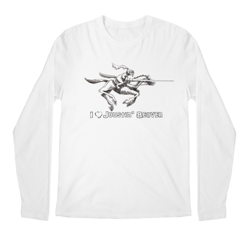 Joustin' Beaver Men's Longsleeve T-Shirt by Yodagoddess' Artist Shop