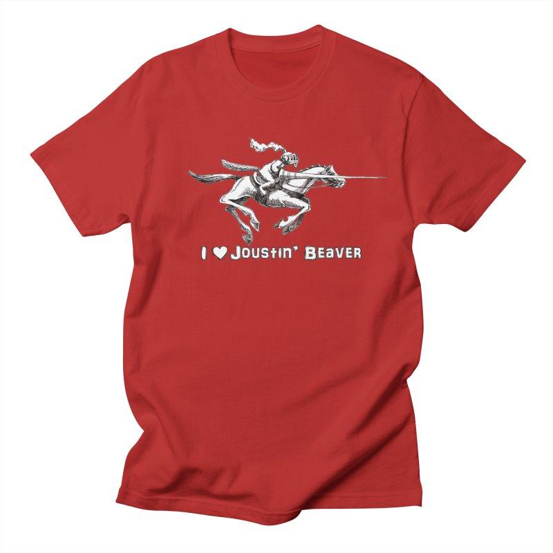 Joustin' Beaver Men's T-shirt by Yodagoddess' Artist Shop
