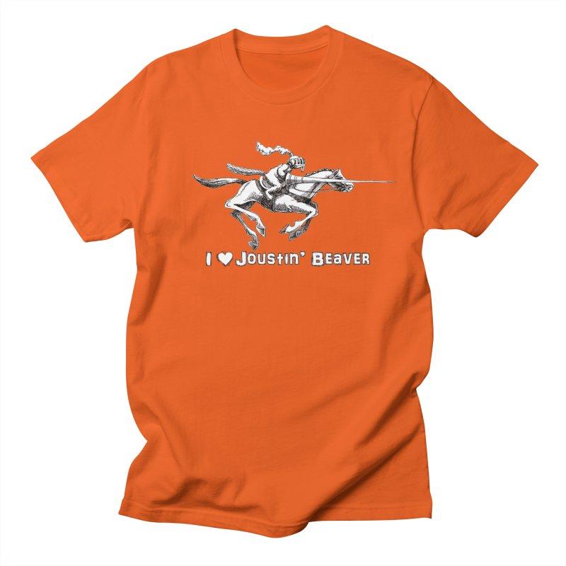 Joustin' Beaver Men's Regular T-Shirt by Yodagoddess' Artist Shop
