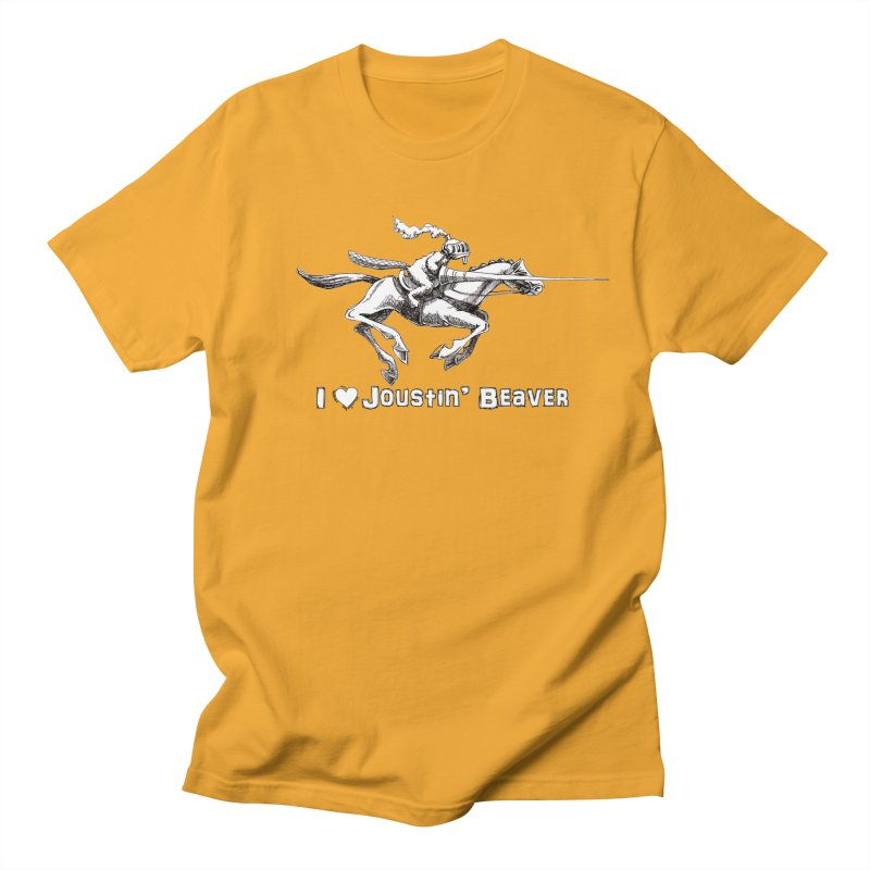 Joustin' Beaver Men's T-shirt by Yodagoddess' Artist Shop