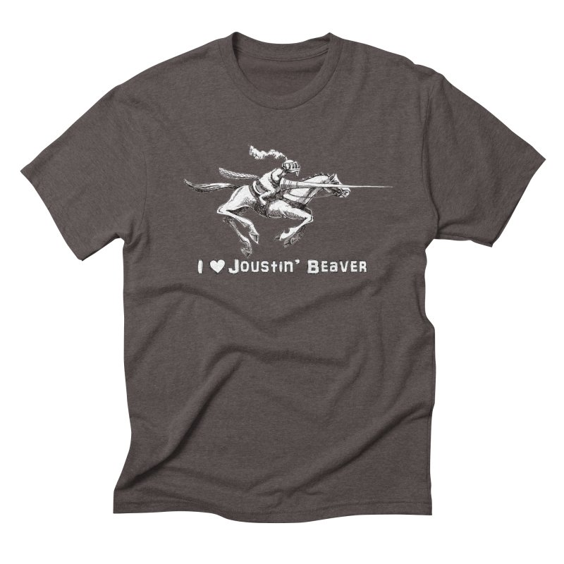 Joustin' Beaver Men's Triblend T-Shirt by Yodagoddess' Artist Shop