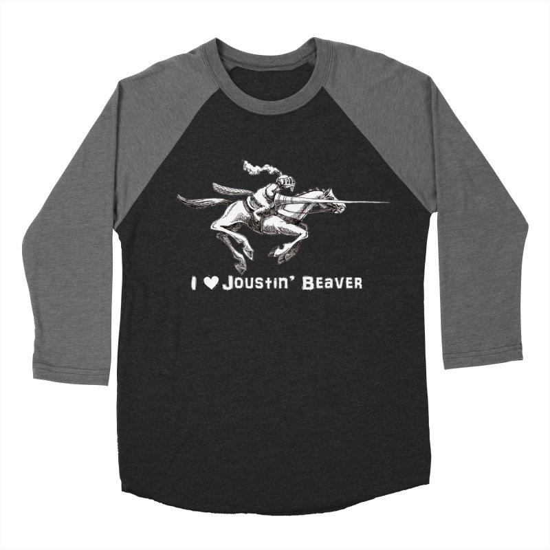 Joustin' Beaver Women's Baseball Triblend T-Shirt by Yodagoddess' Artist Shop