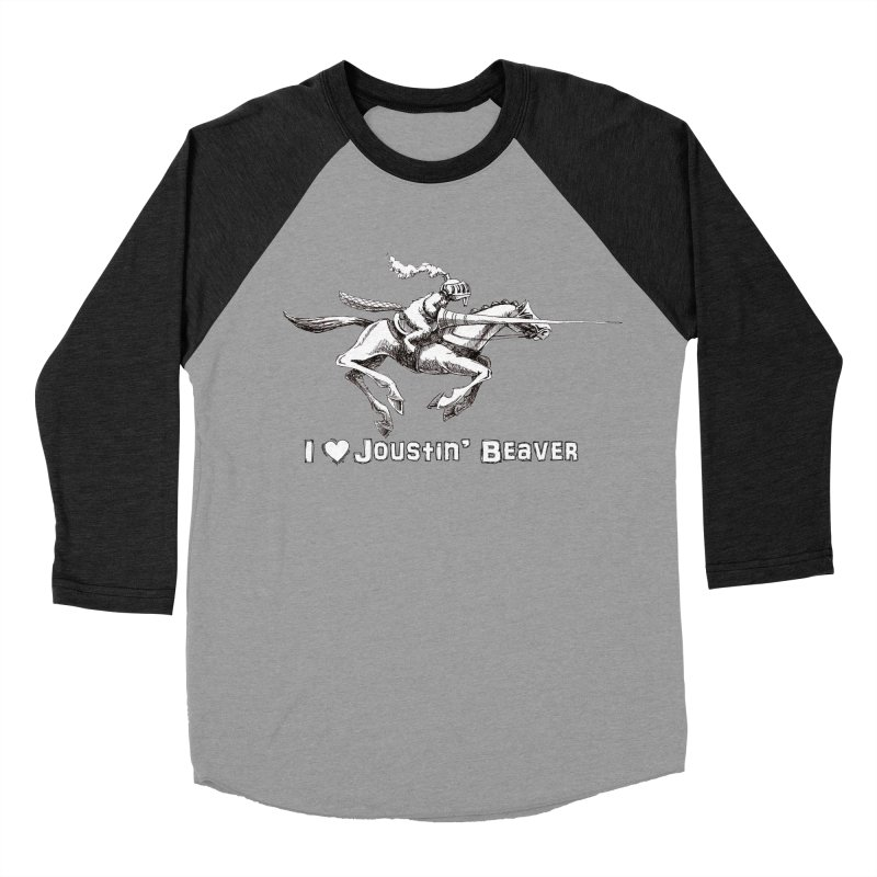 Joustin' Beaver Men's Baseball Triblend T-Shirt by Yodagoddess' Artist Shop