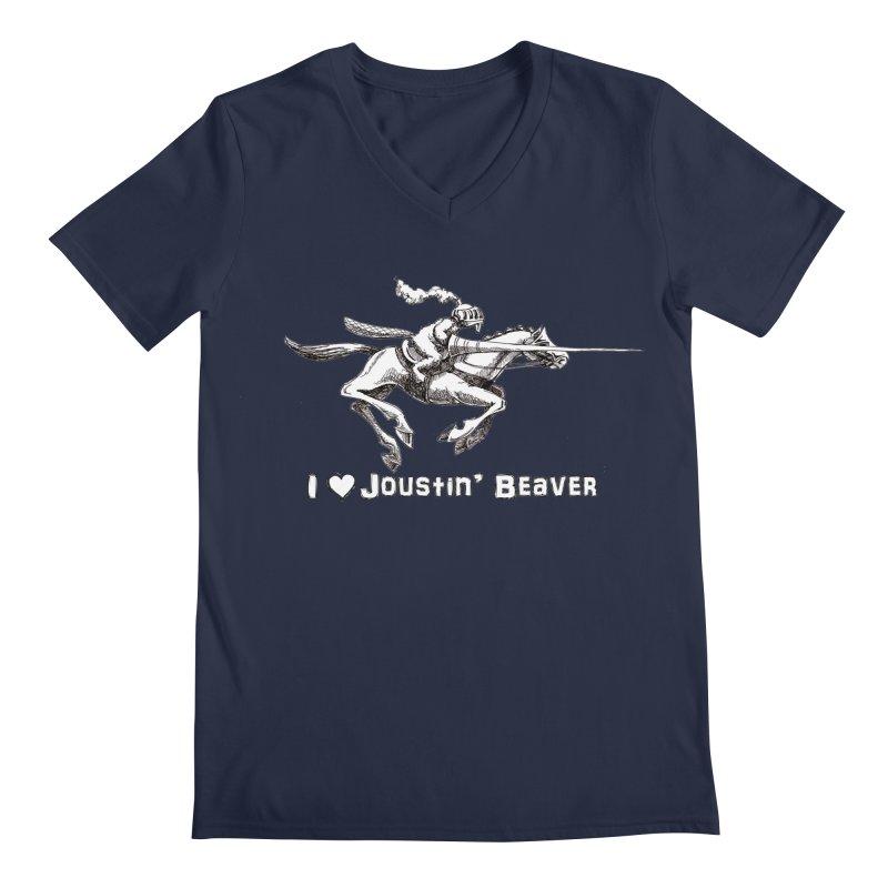 Joustin' Beaver Men's V-Neck by Yodagoddess' Artist Shop