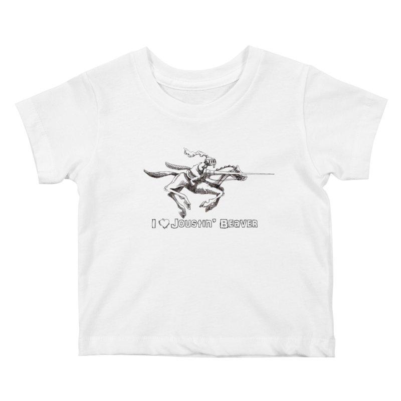 Joustin' Beaver Kids Baby T-Shirt by Yodagoddess' Artist Shop
