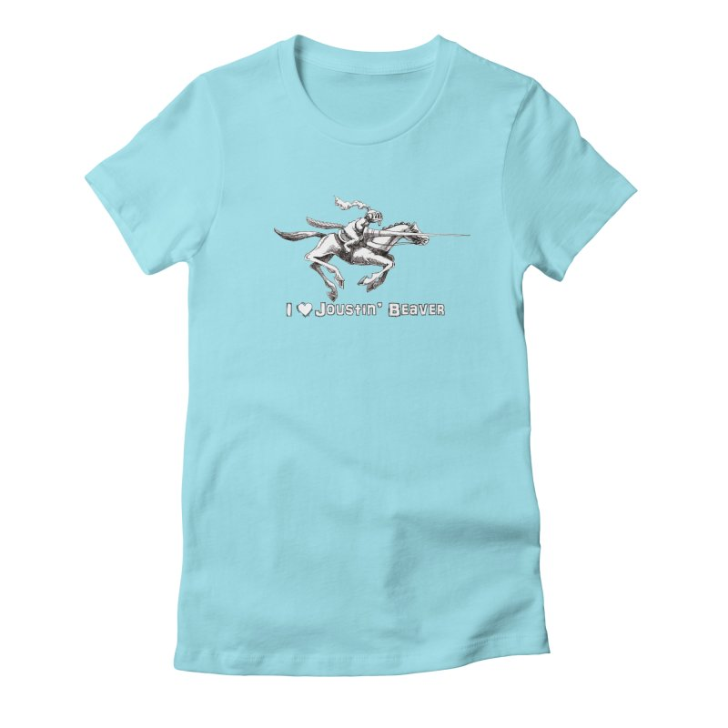 Joustin' Beaver Women's Fitted T-Shirt by Yodagoddess' Artist Shop