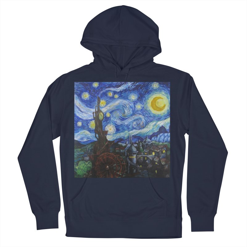 Steampunk Starry Night Women's French Terry Pullover Hoody by Yodagoddess' Artist Shop