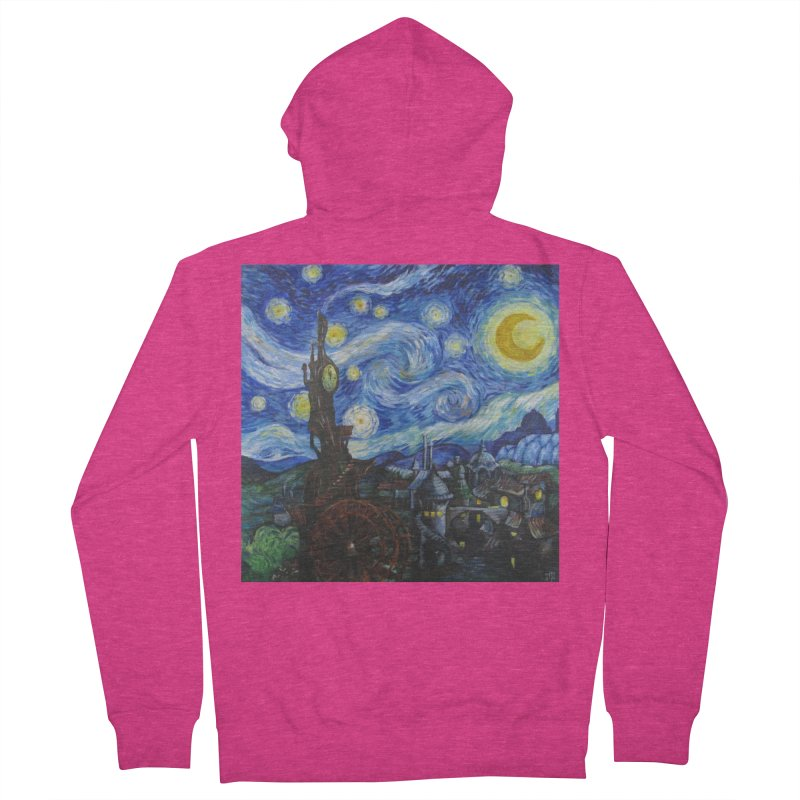 Steampunk Starry Night Women's French Terry Zip-Up Hoody by Yodagoddess' Artist Shop