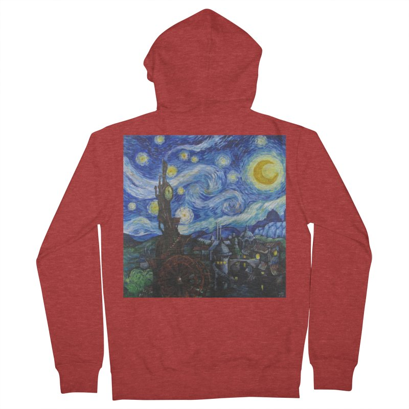 Steampunk Starry Night Men's Zip-Up Hoody by Yodagoddess' Artist Shop