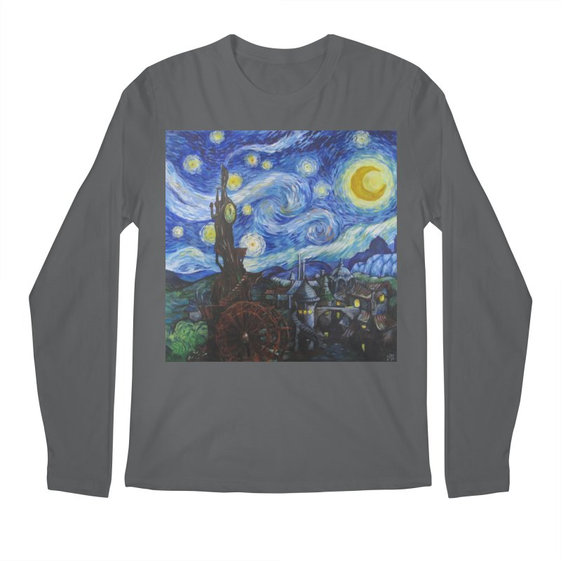 Steampunk Starry Night Men's Longsleeve T-Shirt by Yodagoddess' Artist Shop