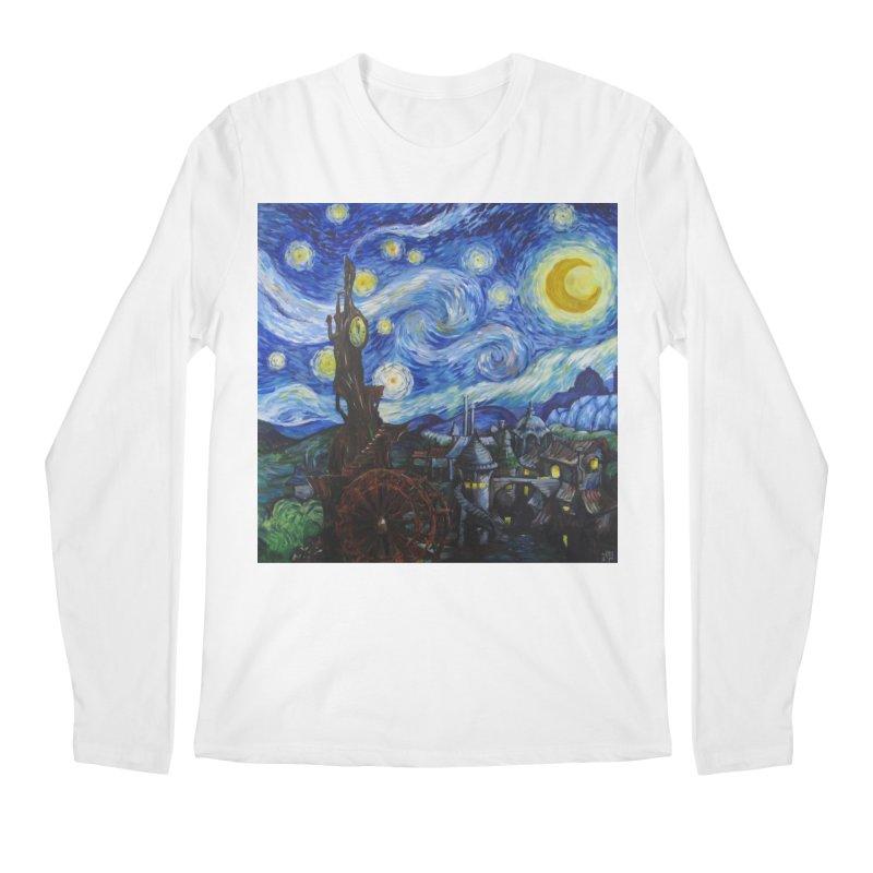 Steampunk Starry Night Men's Regular Longsleeve T-Shirt by Yodagoddess' Artist Shop