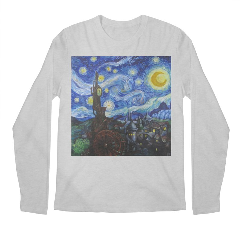 Steampunk Starry Night Men's Regular Longsleeve T-Shirt by Yodagoddess' Artist Shop