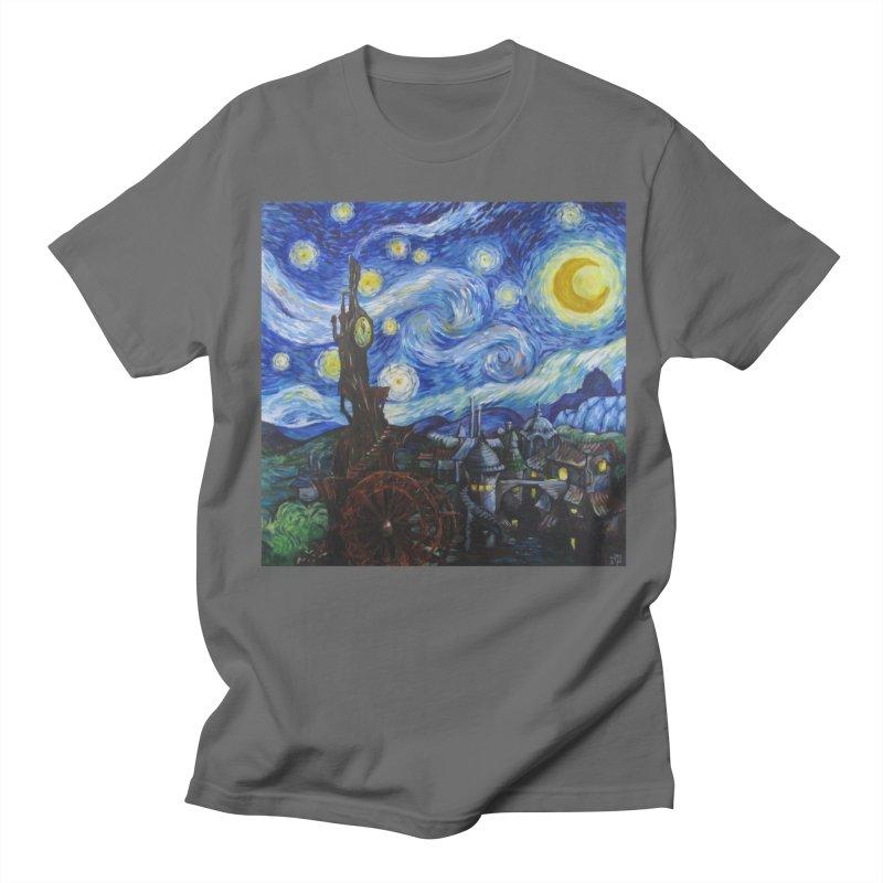 Steampunk Starry Night Women's Regular Unisex T-Shirt by Yodagoddess' Artist Shop