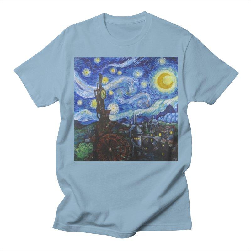 Steampunk Starry Night Men's T-Shirt by Yodagoddess' Artist Shop