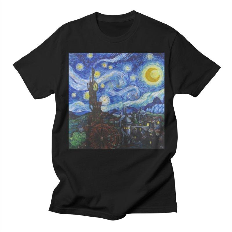 Steampunk Starry Night Women's Unisex T-Shirt by Yodagoddess' Artist Shop