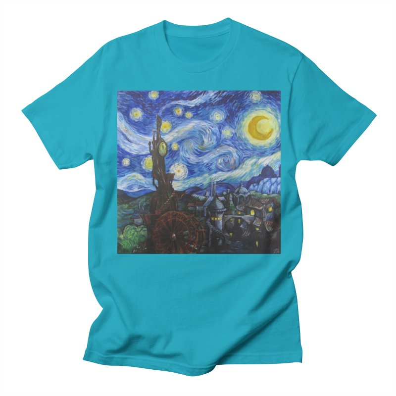 Steampunk Starry Night Men's T-shirt by Yodagoddess' Artist Shop