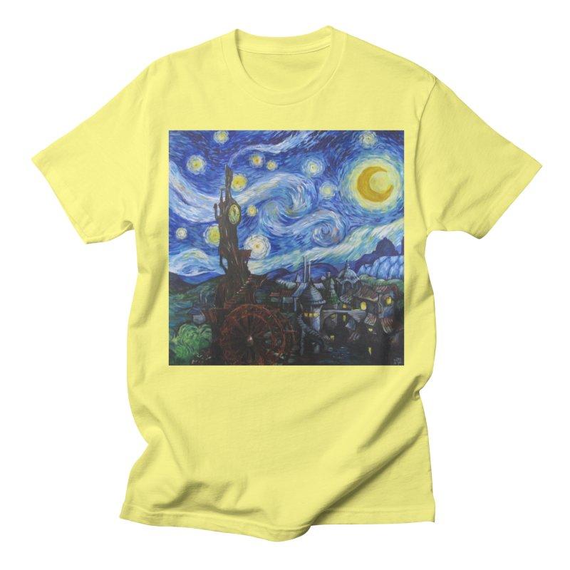 Steampunk Starry Night Men's Regular T-Shirt by Yodagoddess' Artist Shop