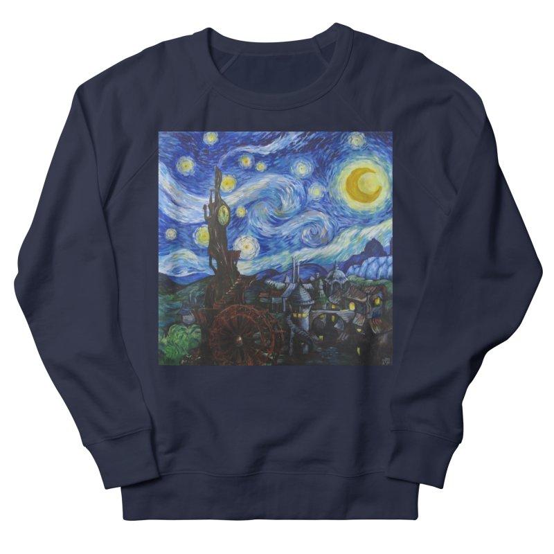 Steampunk Starry Night Women's French Terry Sweatshirt by Yodagoddess' Artist Shop