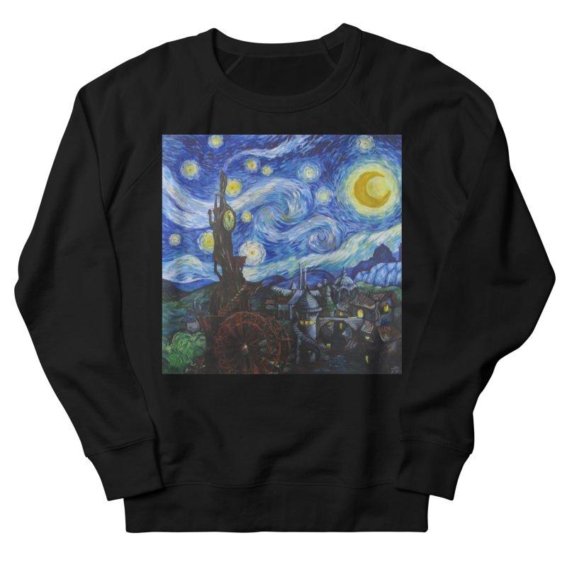 Steampunk Starry Night Men's French Terry Sweatshirt by Yodagoddess' Artist Shop