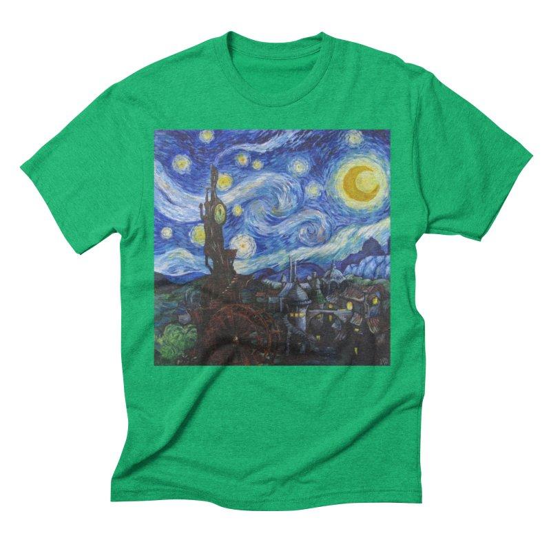 Steampunk Starry Night Men's Triblend T-Shirt by Yodagoddess' Artist Shop