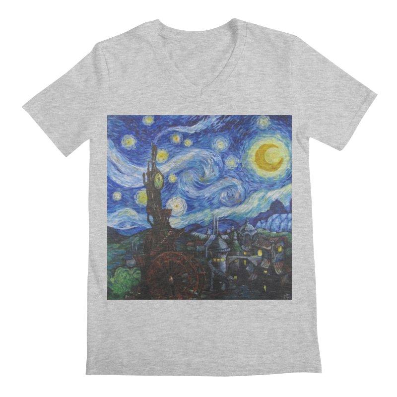 Steampunk Starry Night Men's V-Neck by Yodagoddess' Artist Shop