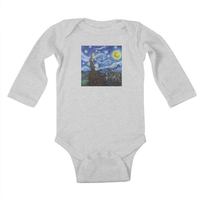 Steampunk Starry Night Kids Baby Longsleeve Bodysuit by Yodagoddess' Artist Shop