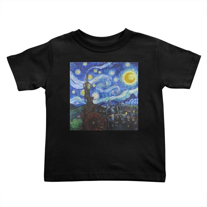 Steampunk Starry Night Kids Toddler T-Shirt by Yodagoddess' Artist Shop