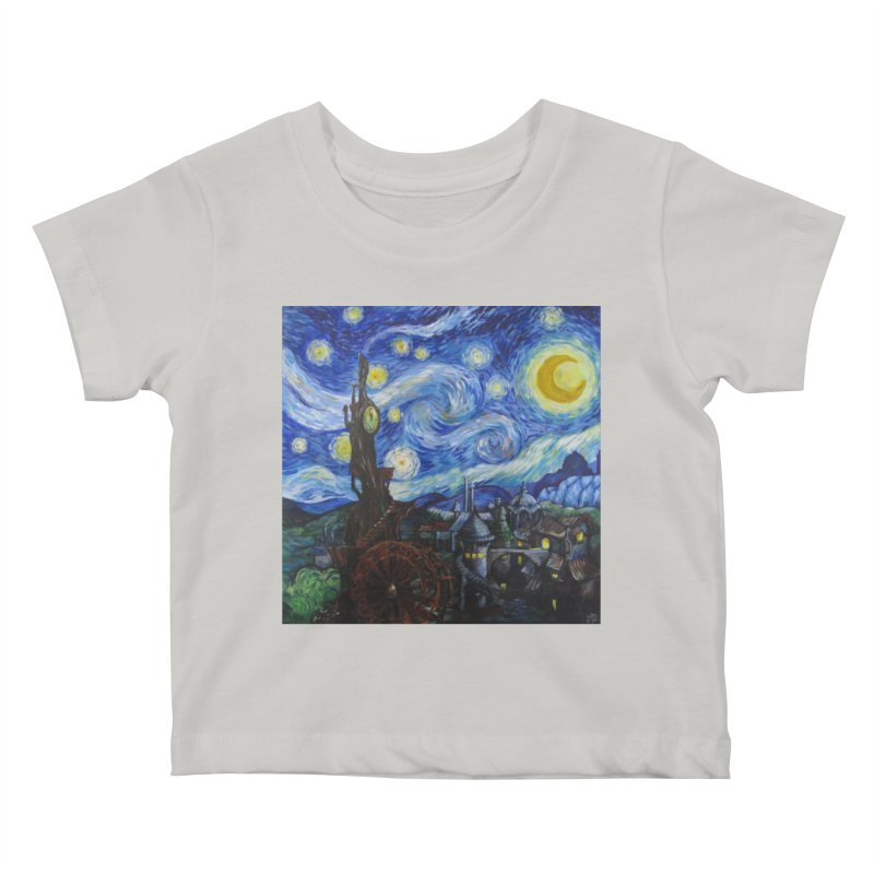 Steampunk Starry Night Kids Baby T-Shirt by Yodagoddess' Artist Shop