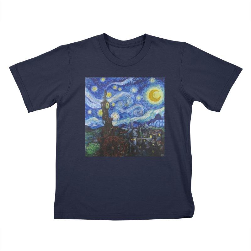 Steampunk Starry Night Kids T-Shirt by Yodagoddess' Artist Shop
