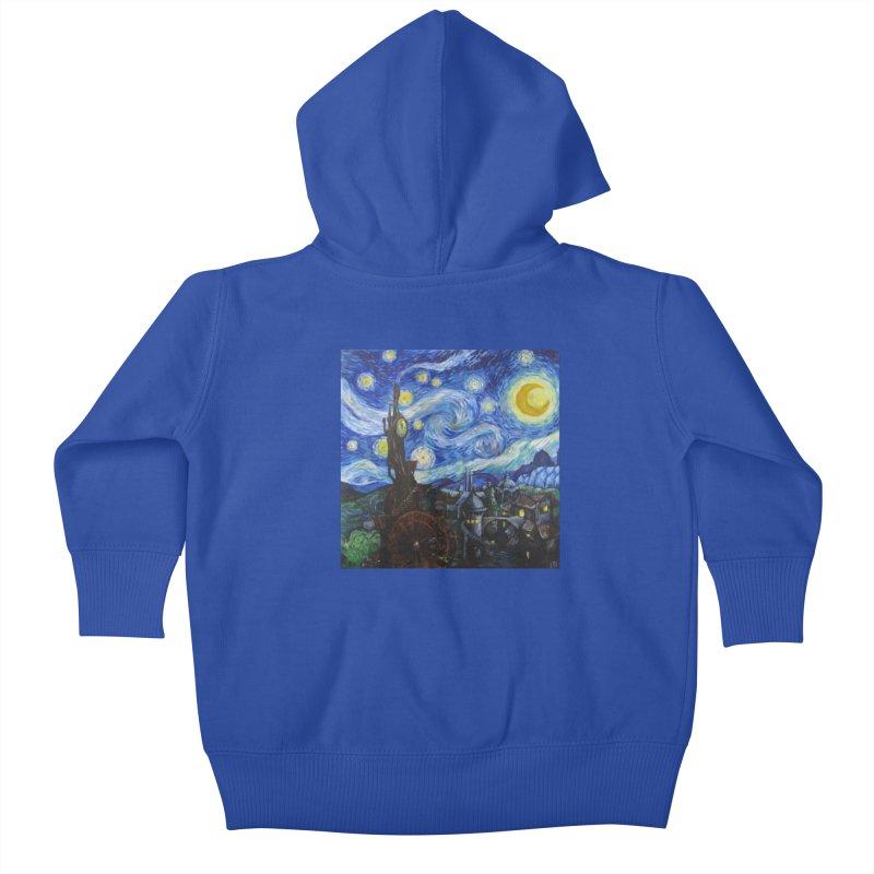 Steampunk Starry Night Kids Baby Zip-Up Hoody by Yodagoddess' Artist Shop