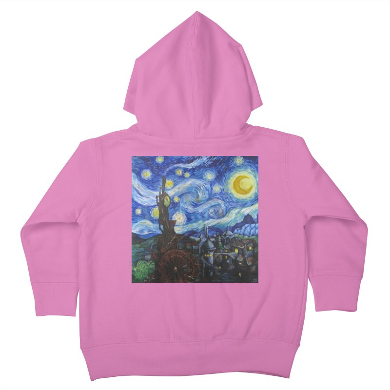 Steampunk Starry Night Kids Toddler Zip-Up Hoody by Yodagoddess' Artist Shop
