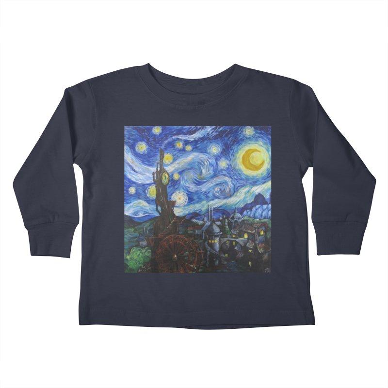Steampunk Starry Night Kids Toddler Longsleeve T-Shirt by Yodagoddess' Artist Shop