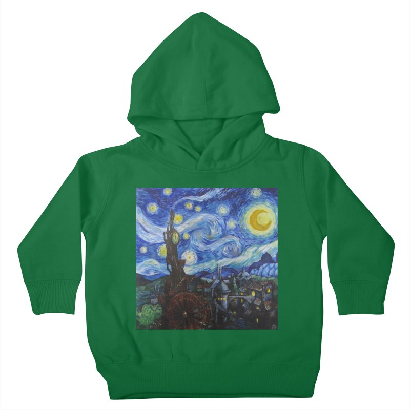 Steampunk Starry Night Kids Toddler Pullover Hoody by Yodagoddess' Artist Shop