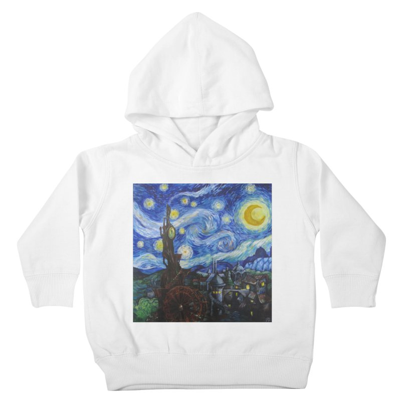 Steampunk Starry Night Kids Toddler Pullover Hoody by Yodagoddess' Artist Shop