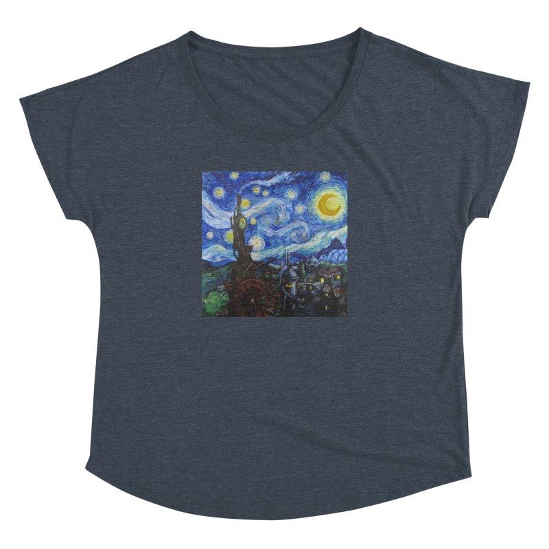 Steampunk Starry Night Women's Dolman Scoop Neck by Yodagoddess' Artist Shop