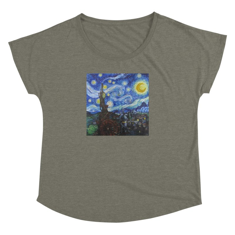 Steampunk Starry Night Women's Dolman Scoop Neck by Yodagoddess' Artist Shop