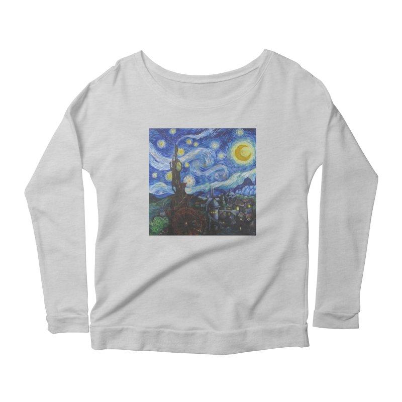Steampunk Starry Night Women's Scoop Neck Longsleeve T-Shirt by Yodagoddess' Artist Shop
