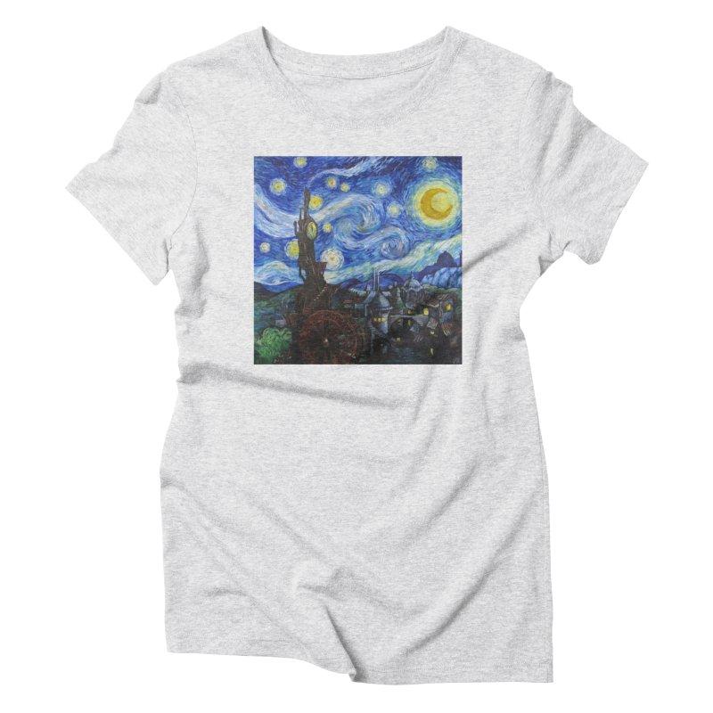 Steampunk Starry Night Women's Triblend T-shirt by Yodagoddess' Artist Shop