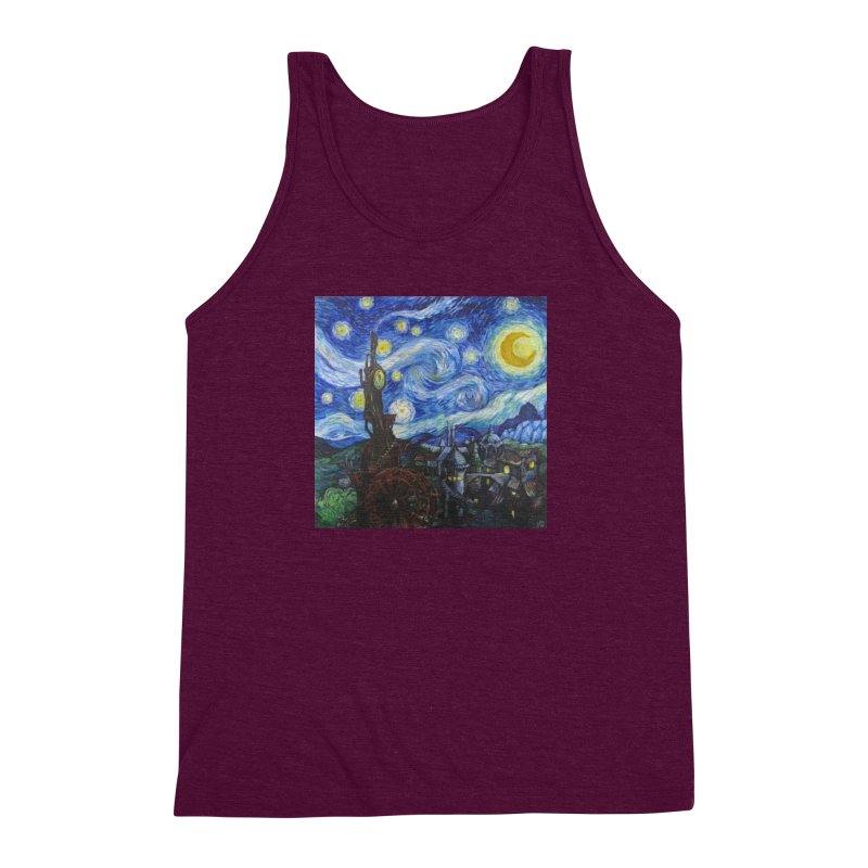 Steampunk Starry Night Men's Triblend Tank by Yodagoddess' Artist Shop