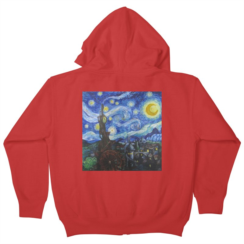 Steampunk Starry Night Kids Zip-Up Hoody by Yodagoddess' Artist Shop