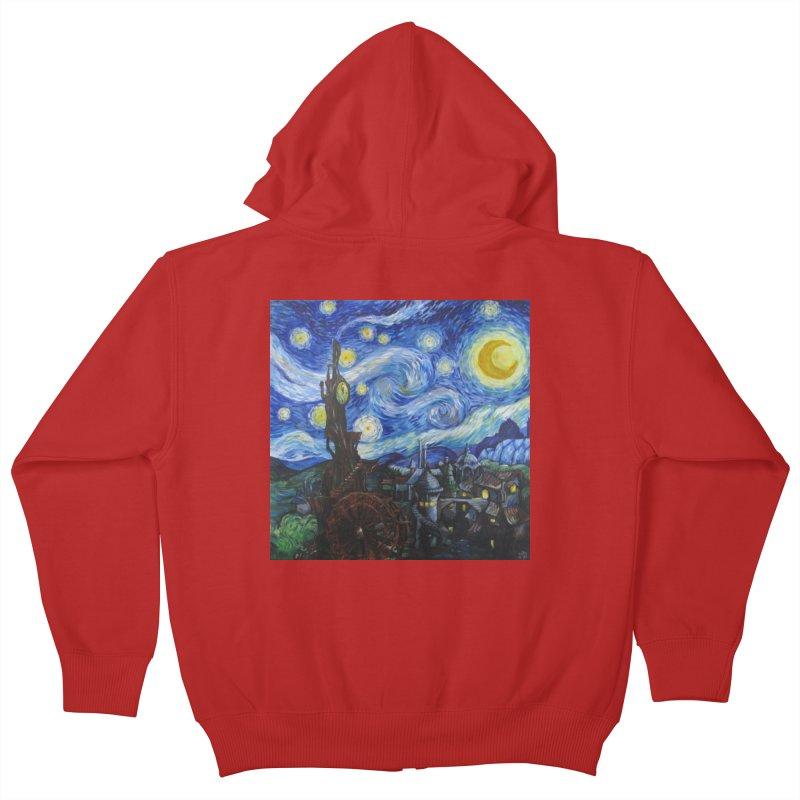 Steampunk Starry Night Kids Zip-Up Hoody by Yodagoddess' Artist Shop
