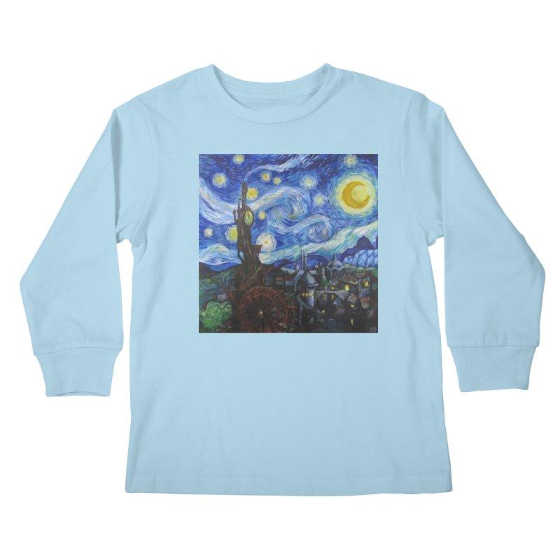 Steampunk Starry Night Kids Longsleeve T-Shirt by Yodagoddess' Artist Shop