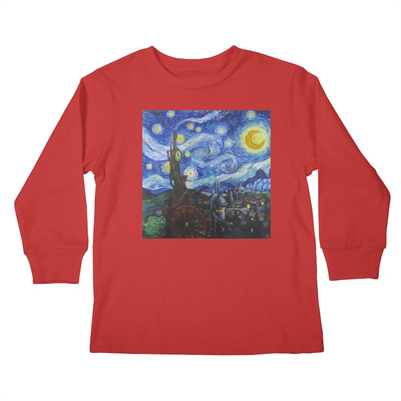 Steampunk Starry Night Kids Longsleeve T-Shirt by Yodagoddess' Artist Shop
