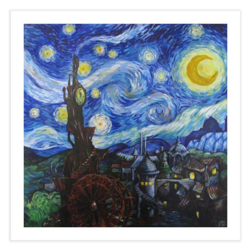 Steampunk Starry Night Home Fine Art Print by Yodagoddess' Artist Shop