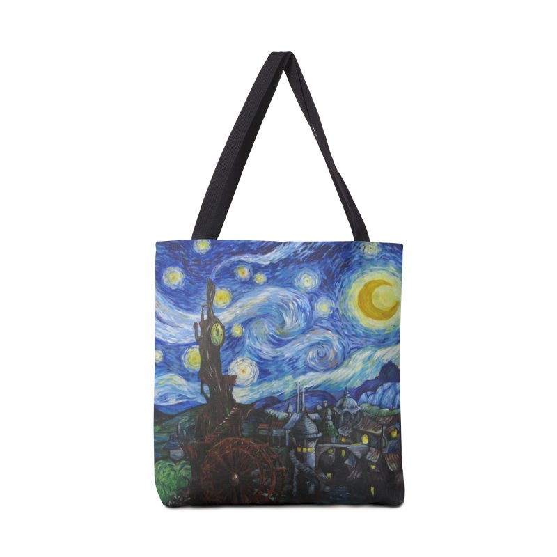Steampunk Starry Night Accessories Bag by Yodagoddess' Artist Shop